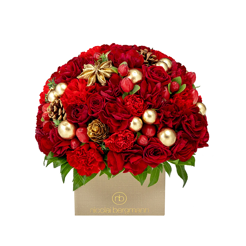 Holiday Blossom Cube (Festive Red)