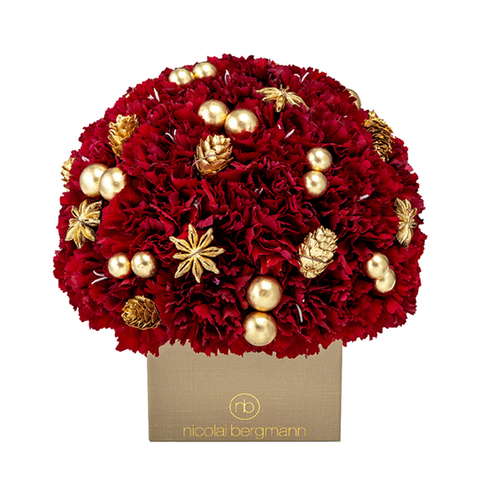 Holiday Blossom Cube (Wine Red) image